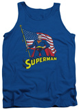 Tank Top: Superman - American Flag Tank Top