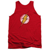 Tank Top: The Flash - Destroyed Flash Logo Tank Top