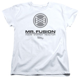 Womens: Back To The Future II - Mr. Fusion Logo T-shirts