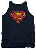 Tank Top: Superman - Distressed Shield Tank Top