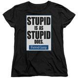 Womens: Forrest Gump - Stupid Is T-shirts