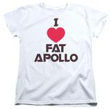 Womens: Battlestar Galactica - I Heart Fat Apollo T-shirts