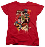 Womens: DC Comics - Dripping Characters T-shirts