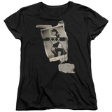 Womens: Bettie Page - Newspaper & Lace T-shirts