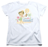 Womens: Betty Boop - Hot In Hawaii T-shirts