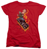 Womens: Dark Knight Rises - Bane On Fire T-shirts