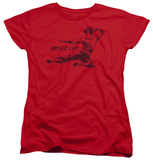 Womens: Bruce Lee - Line Kick T-shirts