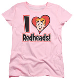 Womens: Archie Comics - I Love Redheads Shirts