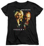 Womens: Bride Of Chucky - Chucky Gets Lucky Shirts