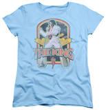 Womens: Elvis Presley - Distressed King T-shirts