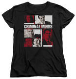 Womens: Criminal Minds - Character Boxes Shirts