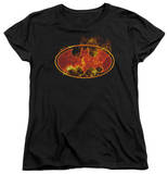 Womens: Batman - Flames Logo Shirts