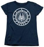Womens: Battlestar Galactica - Scratched BSG Logo T-Shirt