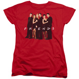 Womens: Friends - Cast In Black T-Shirt