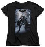 Womens: Dark Knight Rises - Crumbled Poster T-Shirt