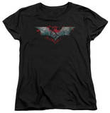 Womens: Dark Knight Rises - Split & Crack Logo T-shirts