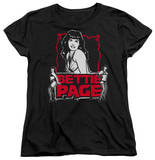 Womens: Bettie Page - Bettie Scary Hot Shirt