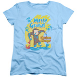 Womens: Curious George - Messy George T-Shirt