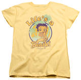 Womens: Betty Boop - Life's A Beach T-Shirt