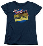 Womens: Charlie and the Chocolate Factory - Golden Ticket T-shirts