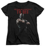 Womens: Dark Knight Rises - Permission To Die Shirts