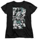 Womens: Justice League - A Mighty League T-shirts