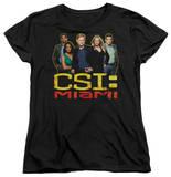 Womens: CSI Miami - The Cast In Black Shirts