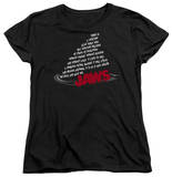 Womens: Jaws - Dorsal Text Shirts