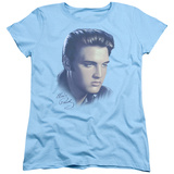 Womens: Elvis Presley - Big Portrait T-shirts