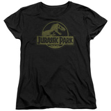 Womens: Jurassic Park - Distressed Logo T-shirts