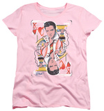 Womens: Elvis Presley - King Of Hearts T-Shirt