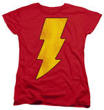Womens: Shazam - Shazam Logo Distressed T-Shirt