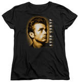 Womens: James Dean - Sepia Portrait T-shirts