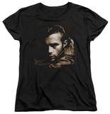Womens: James Dean - Brown Leather Shirt