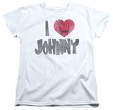 Womens: Johnny Bravo - I Heart Johnny Shirts