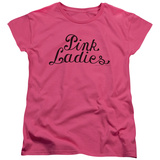 Womens: Grease - Pink Ladies Logo T-Shirt