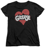 Womens: Grease - Heart T-Shirt