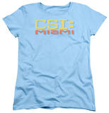 Womens: CSI Miami - Logo Distressed T-Shirt