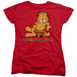 Womens: Garfield - Happy Face Shirt