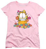 Womens: Garfield - In The Garden T-Shirt