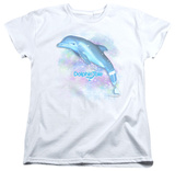 Womens: Dolphin Tale - Winter Water Color T-shirts