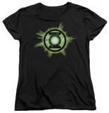 Womens: Green Lantern - Green Glow T-Shirt