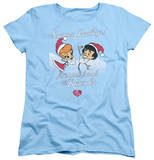 Womens: I Love Lucy - Animated Christmas T-Shirt