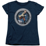 Womens: The Adventures of Tintin - Globe T-Shirt