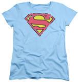 Womens: Superman - Distressed Shield Shirt