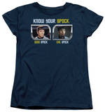 Womens: Star Trek - Know Your Spock T-shirts