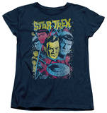 Womens: Star Trek - Classic Crew Illustrated T-shirts