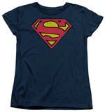 Womens: Superman - Distressed Shield Shirt