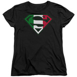 Womens: Superman - Italian Shield T-Shirt