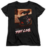 Womens: They Live - Poster T-shirty